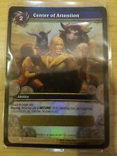 Center of Attention Loot Card World Warcraft Epic Purple Shirt WoW TCG Code Rare