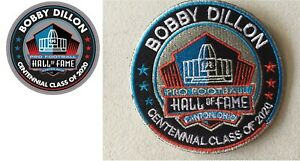 BOBBY-DILLON-2020-CENTENNIAL-NFL-HALL-OF-FAME-PATCH-amp-PIN-GREEN-BAY-PACKERS