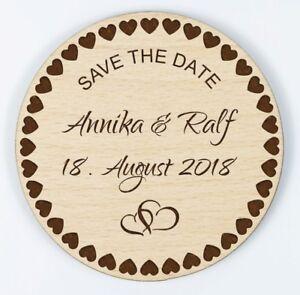 Hochzeit Einladungskarte Holz Save The Date Karte