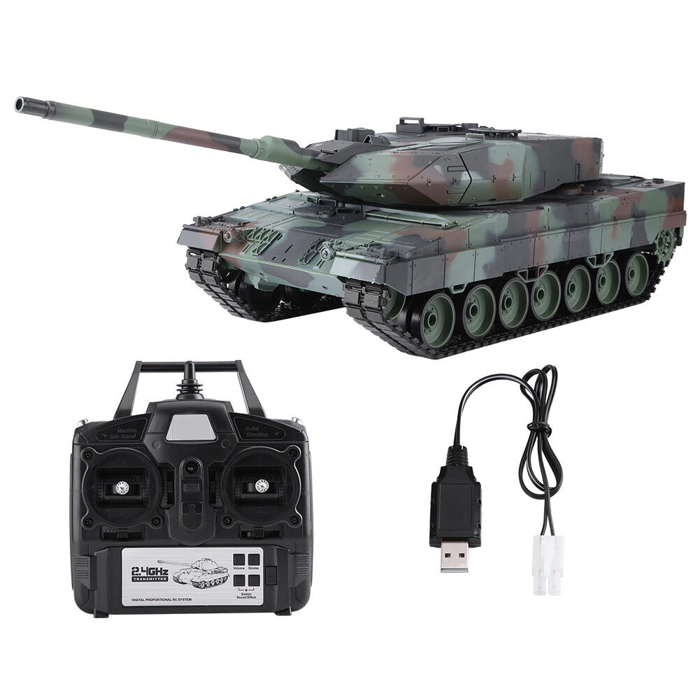 Heng Long 3889 1 16 RC Tank Leopard 2 A6 2.4G Military Pro edition Sound Smoke