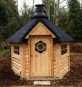 timber garden office. Image Is Loading BBQ-HUT-4-5-m-Hut-Cabin-Timber- Timber Garden Office
