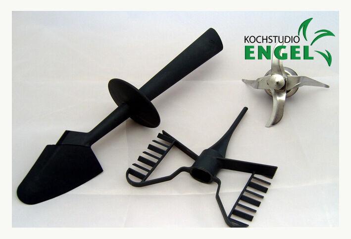 Set couteau + papillon + spatule convient pour thermomix tm21 vorwerk NEUF