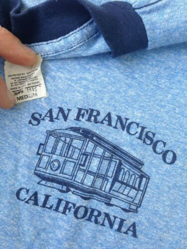 VTG 70'S SAN FRANCISCO CALIFORNIA TROLLEY T SHIRT