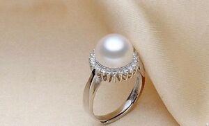 Traumhaft-Silberring-925-Sterling-Silber-Suesswasser-Perle-AAA-Groesse-verstellbar
