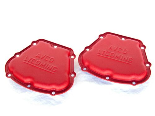 NEW Lycoming OEM IO-360 540 Engine Valve Cover PAIR  68795 Factory Ferrari RED