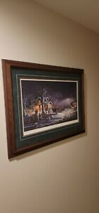 Terry Redlin Winter Wonderland Framed Artist Proof Print S/N 482/2950
