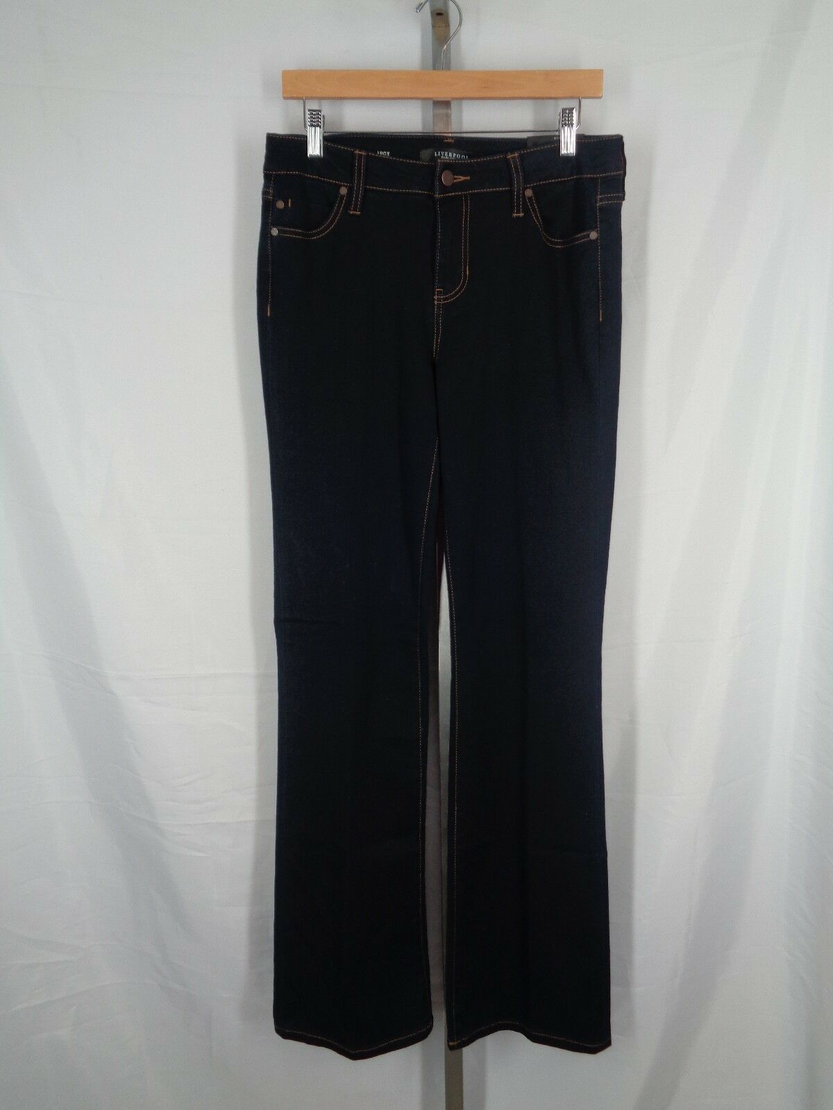 Liverpool Jeans Size 10 X 34 Lucy Boot Cut Dark Denim New