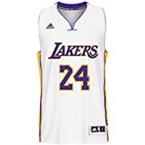 ADIDAS Men's NBA Los Angeles Lakers Kobe White #24 Jersey ...