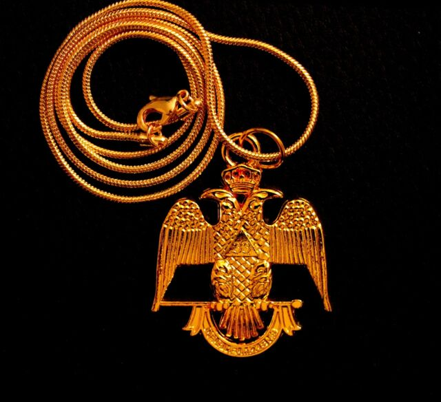 33rd Degree Eagle Charm Large Pendant with Chain