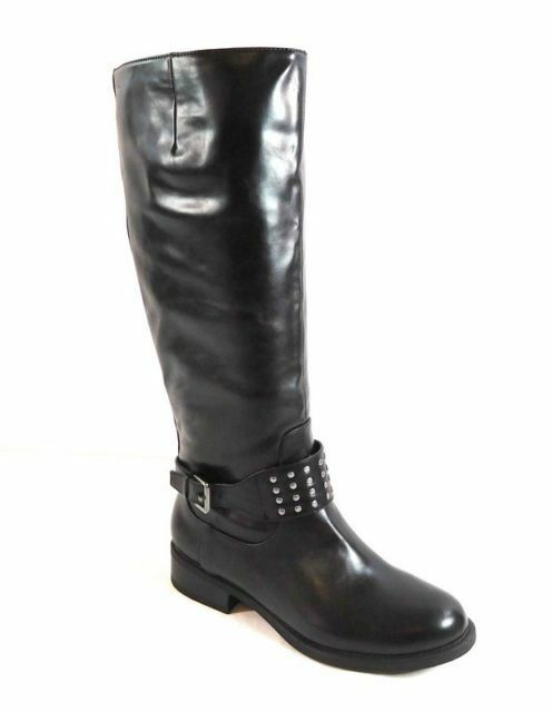 size 8.5 American Living Jaycee Black Knee High Riding Boots Womens Shoes NEW