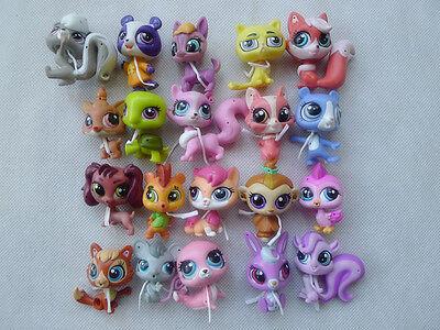 Hasbro Littlest Pet Shop LPS 10pcs Random Figures Wave 2 New Loose