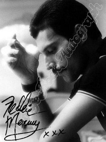 Freddie Mercury print signed photo foto con autografo stampato QUEEN