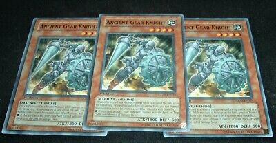 Ancient Gear Knight 1st Edition x3 GLAS-EN029 Common Lightly Played