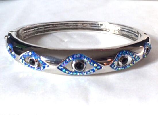 Butler et Wilson émail cristal 5 OEIL pression bracelet NOUVEAU