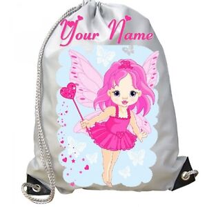 Image is loading GIRLS-Personalised-Magical-FAIRY-Princess-Gym-BAG-for- db20ecd9b4b19