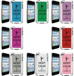 GLITTER-Bling-iPod-Touch-4th-Generation-4G-Hard-Case-Keep-Calm-and-Do-Gymnastics