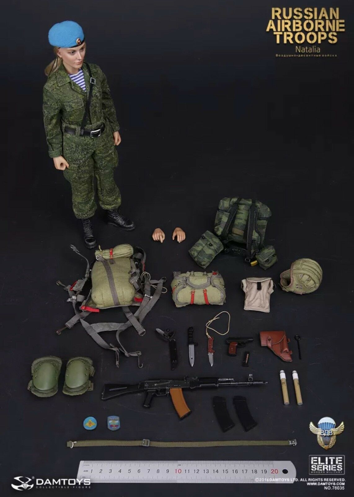 DAM Toys RUSSIAN AIRBORNE TROOPS - NATALIA 1/6 Action Figure