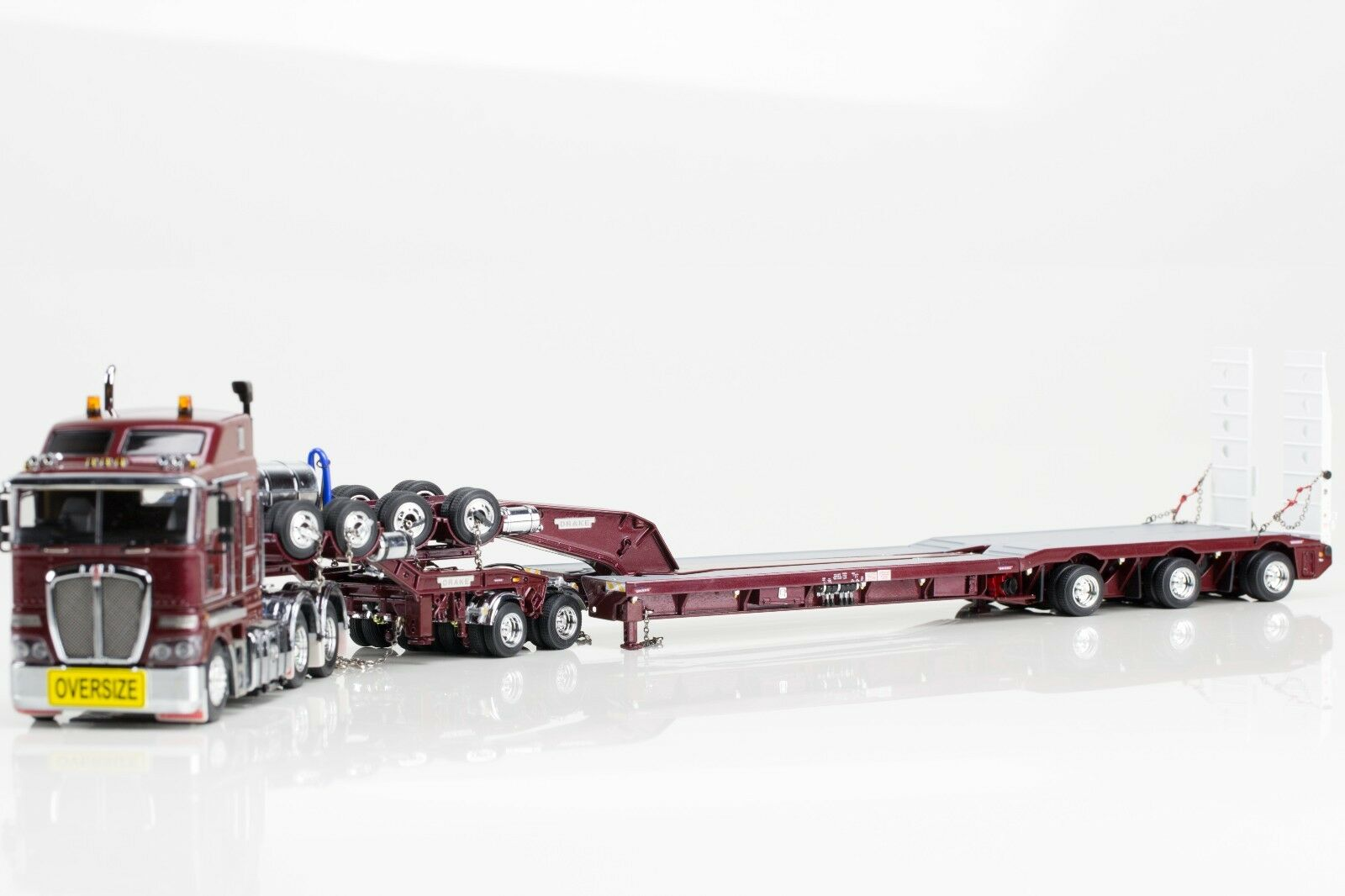KENWORTH K200 with DRAKE 2x8 DOLLY & 3x8 LOWLOADER - BURGUNDY