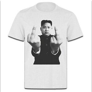Kim-Jong-un-Just-Nuke-It-Middle-Finger-Supreme-Leader-PH331-UNISEX-WHITE-T-SHIRT