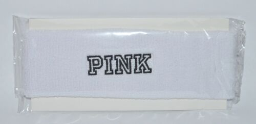 NEW VICTORIA/'S SECRET PINK WHITE HEADBAND HAIR ONE SIZE SWEAT SPORT SPA BATH