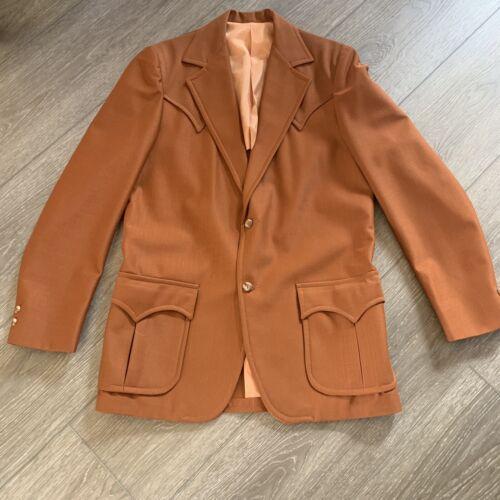 Tregos westwear Vintage Mens Brown Suit Jacket 42L