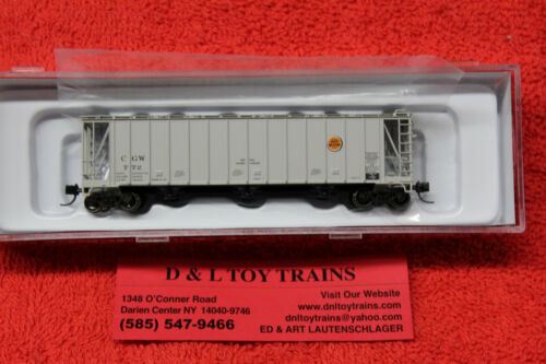 50002901 Chicago Great Western 3500 Dry Flo 3 Bay Covered Hopper Car NEW IN BOX