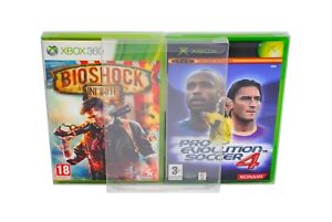 5 x GP12 Xbox / Xbox 360 Game Box Protectors 0.4mm PET Plastic Display Case