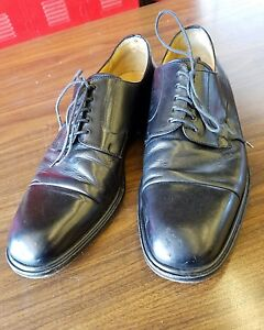 Mezlan-black-leather-Piazza-Oxfords-Men-039-s-Size-12M-made-in-spain