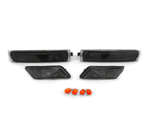 SMOKED INDICATORS AND SIDE REPEATERS FOR BMW Z3 NICE GIFT SET OF 4 PLUS BULBS