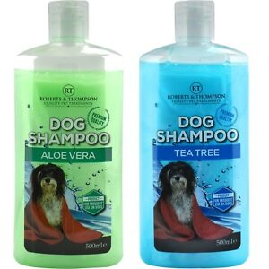 Pet-Puppy-Dog-Shampooing-Aloe-Vera-amp-Tea-Tree-Shampooing-500-ml-convient-pour-tous-les-chien