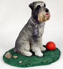 SCHNAUZER  MY  DOG  Figurine Statue Pet Lovers Gift Resin Hand Painted