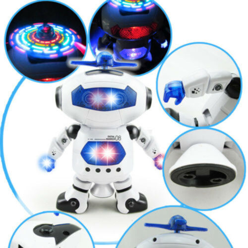For 3-9 Year Old Age Boys Kids Toddler LED Dance Robot Modern Cool Toy Gift