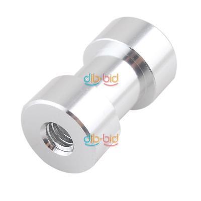 "1/4"" 3/8"" Tripod Screw to Light Umbrella Holder Adapter For Camera Silver OZ"