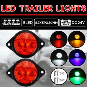 2x LED Universal Umrissleuchte Begrenzungsleuchten Positionsleuchte Markierung LKW Anh/änger 24V