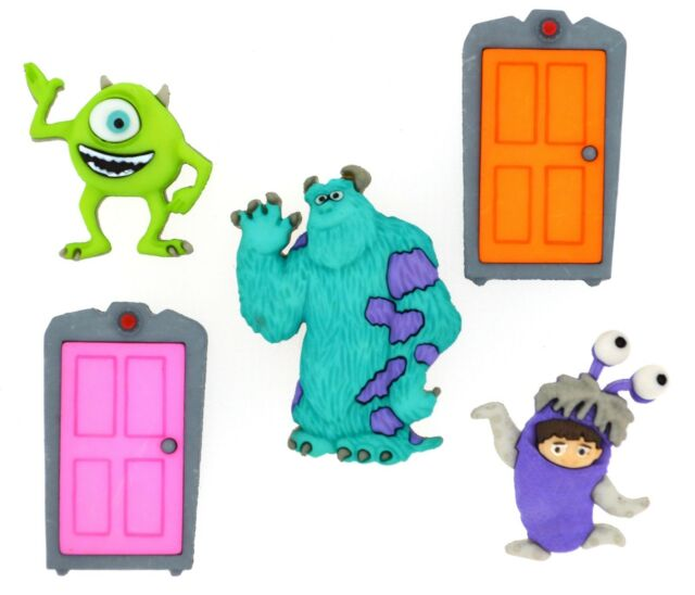 Jesse James Dress It Up Buttons ~ LICENSED - DISNEY MONSTERS INC ~SEWING CRAFTS