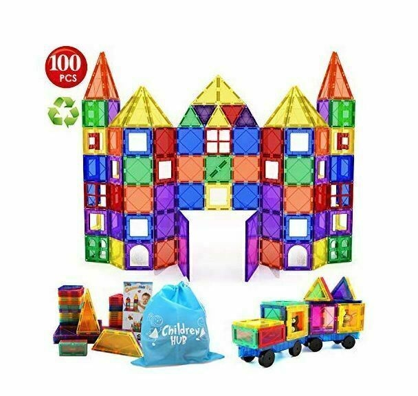 Magna Tiles 100pc Clear Color 3D Magnetic Building Tiles NEW IN BOX Valtech