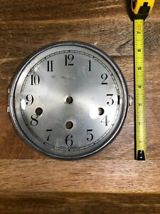 Nice Old Triple Chime Clock Dial Pan And Bezel (Clock Dial Lot K1083)