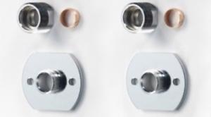 Ravissement Robinet Valve Douche Barre Fixation Crochets Chrome Asp 15mm Pipe 1 Paire-afficher Le Titre D'origine Nombreux Dans La VariéTé