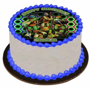 Astounding Edible Cake Topper Image Icing Sheet Teenage Mutant Ninja Funny Birthday Cards Online Elaedamsfinfo