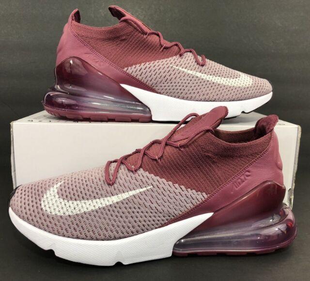 Nike Air Max 270 Flyknit Men's Running Shoes Plum Fog White AO1023 500 Sz 13