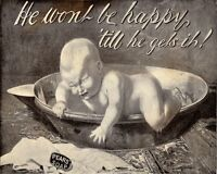 Pears Soap Baby VINTAGE ENAMEL METAL TIN SIGN WALL PLAQUE