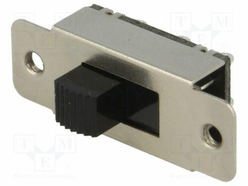 5 pcs slide; Positions 2; DPDT; 1A//24VDC; ON-ON; Switch 20÷60°C
