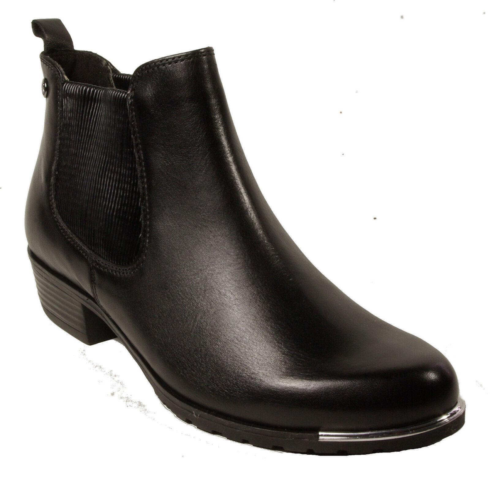 Grandes zapatos con descuento CAPRICE Schuhe Chelsea Boots Stiefeletten Schwarz echt Leder NEU