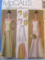 Mccalls Evening Elegance M4449 Misses Lined Tops Skirts Sizes 10-16 Uncut