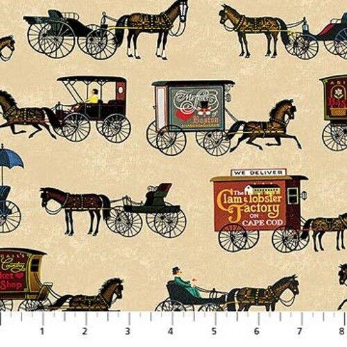 Northcott Autumn Village by Charles Wysocki DP22383 12 Digital Horses Cotton