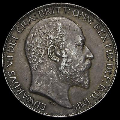 1902 Edward VII Silver Crown, EF