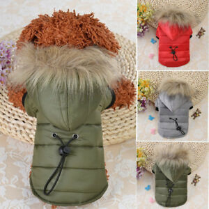 Fur-Collar-Dog-Coat-Winter-Small-Pet-Cat-Jacket-Poodle-Chihuahua-Clothes-Apparel