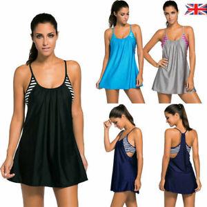 1pc-Womens-Strappy-Scoop-Neck-Flowing-Swim-Dress-Beach-Layered-Tankini-Top-8-18