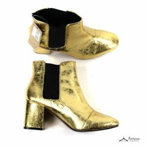 H&M Stiefeletten in gold, leichte Gebrauchsspuren