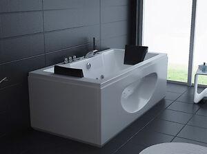 Vasche vasca idromassaggio doppia bagno 180x90 26 idrogetti ozono spa cromo ebay - Vasca da bagno doppia ...